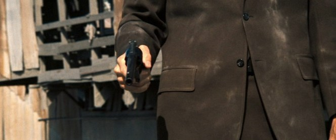 Harry's buttoned coat keeps his vest buttons and belt a mystery for viewers... a mystery that will likely never be solved.