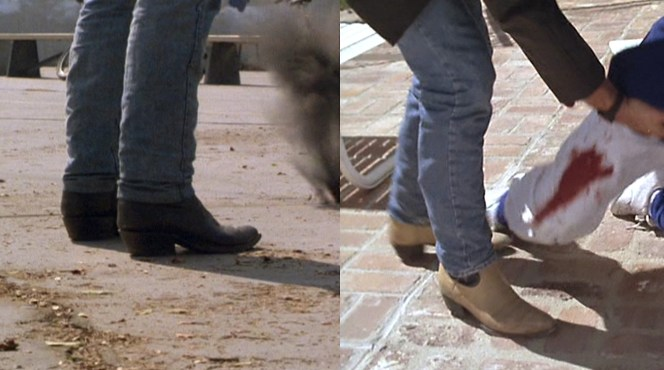 Riggs shows us that you don't need to be a cowboy to wear boots. You do, however, have to be a cowboy cop.