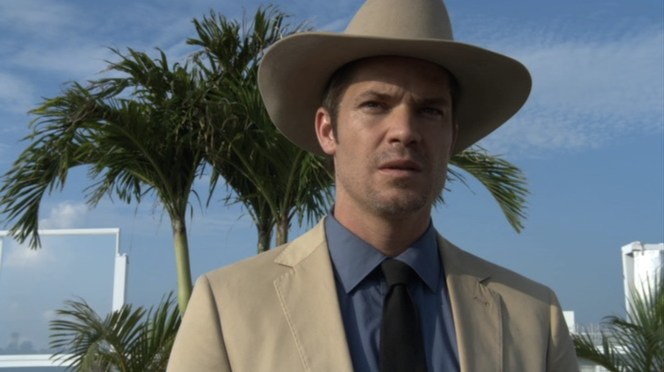 Our first look at Raylan Gives is sufficiently badass.