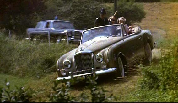 A 1954 Bentley R-Type with convertible coachwork by Park Ward, as seen in the 1962 film The Fast Lady.