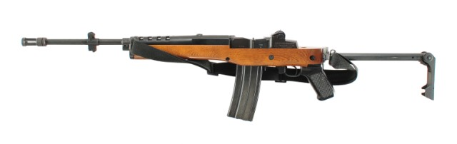 A Ruger Mini-14GB rifle, similar to the one modified by Jack in the film. The film's rifle, however, does not have a carry strap.