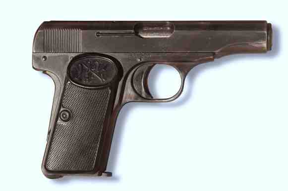 This .32-caliber Model 1910's serial number, #530203, indicates that it was made shortly before the weapon used in Dr. No.