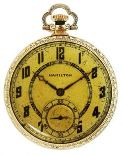 The Hamilton pocketwatch that Dillinger carried the night he was gunned down, thanks to WorthPoint.com.