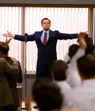Leonardo DiCaprio as Jordan Belfort in The Wolf of Wall Street (2013).
