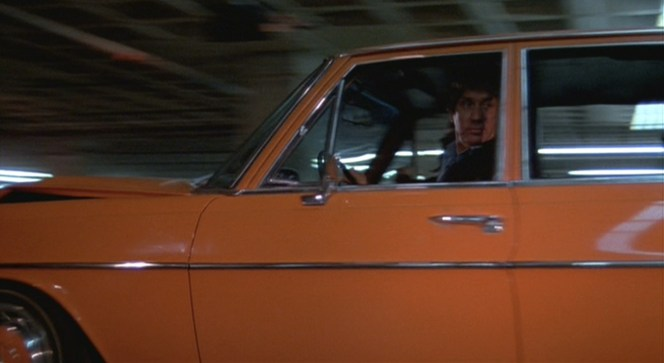 Although O'Neal did much of his own driving, certain scenes called for a stuntman if for no other reason than insurance purposes. Here is one of the few instances where a stunt driver's face is clearly seen behind the wheel.