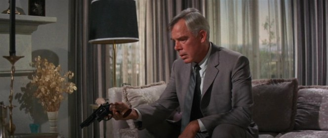 Like any good houseguest, Walker puts down his .44 Magnum after he's finished using it.
