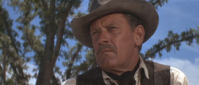 """His kerchief serves as a practical sweat-catcher rather than a flashy """"hey, look I'm in a Western!"""" purpose."""