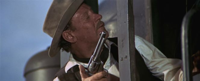 Gun safety advocates may criticize Pike's finger on the trigger of his revolver, but the hammer isn't cocked and Pike likely follows the Old West tradition of keeping an empty round under the hammer anyway.