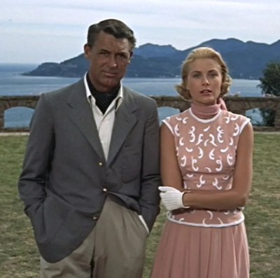 Cary Grant and Grace Kelly in To Catch a Thief (1955).