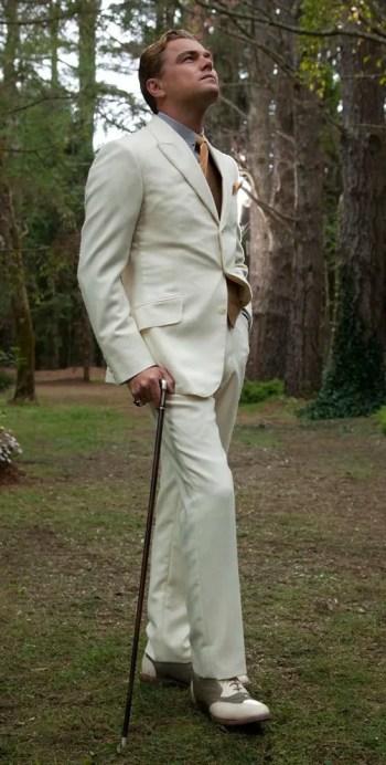 Leonardo DiCaprio as Jay Gatsby in The Great Gatsby (2013).