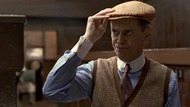 Don't even think about getting between Nucky Thompson and his golf cap!
