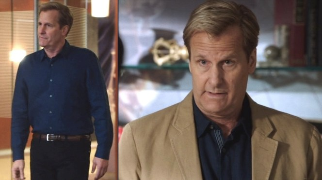 """A royal blue casual shirt in """"The Blackout Part I: Tragedy Porn""""."""