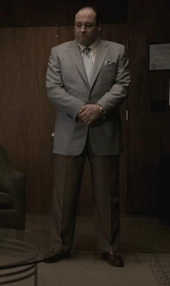 """James Gandolfini as Tony Soprano in """"Two Tonys"""", episode 5.01 of The Sopranos."""