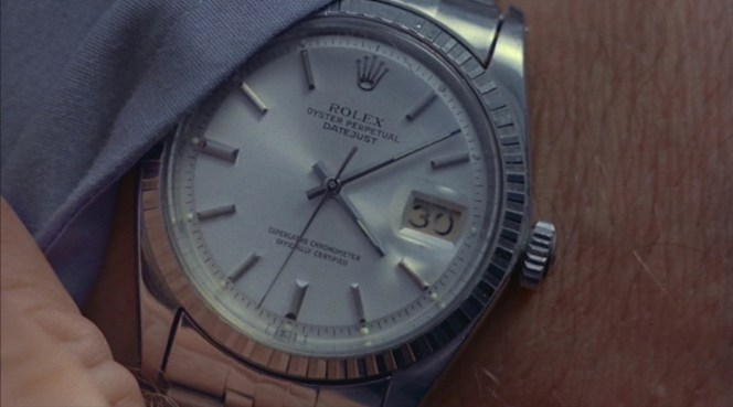 Marlowe leaves no doubt regarding his watch brand of choice.