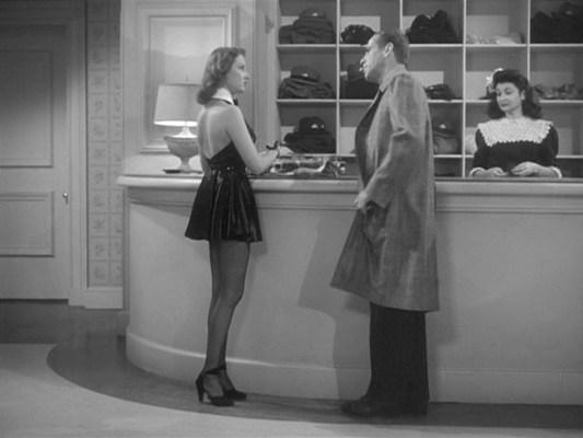 Marlowe meets one of many admirers at Eddie Mars' Cypress Club.