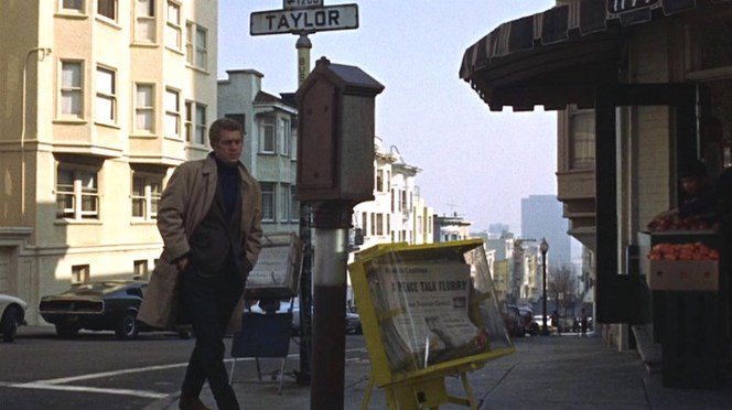 Bullitt gets some early morning shopping in.