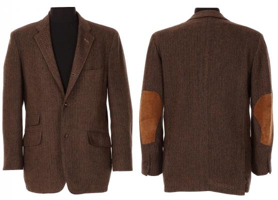 McQueen's herringbone tweed shooting jacket as it appeared when auctioned by Bonhams.