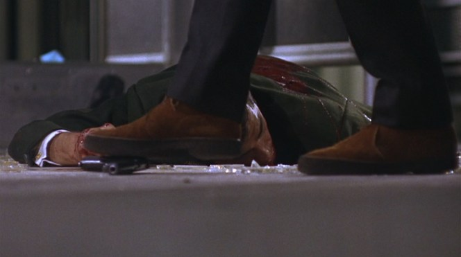 Bullitt's boots are useful for both regular walking and walking on handguns.