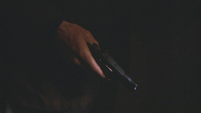 Bullitt draws his Diamondback in the airport. Unlike most movie cops who have their guns in hand for half the movie, Bullitt realistically only draws when he honestly expects to need to use it.