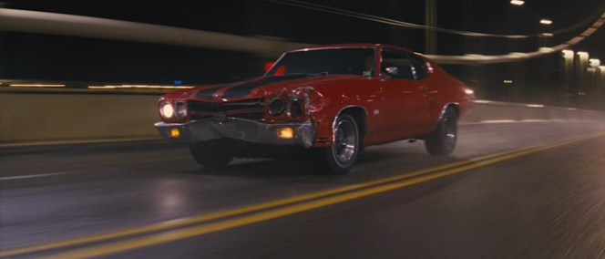 Reacher's Chevelle takes a beating but keeps on rolling.