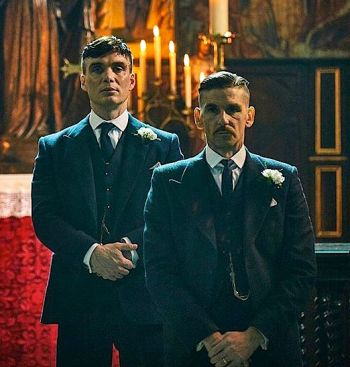 Cillian Murphy as Tommy Shelby and Paul Anderson as Arthur Shelby.