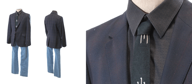 "Raylan's muted plaid jacket and ""Cottonmouth"" (Episode 2.05) outfit, as auctioned by ScreenBid.com."