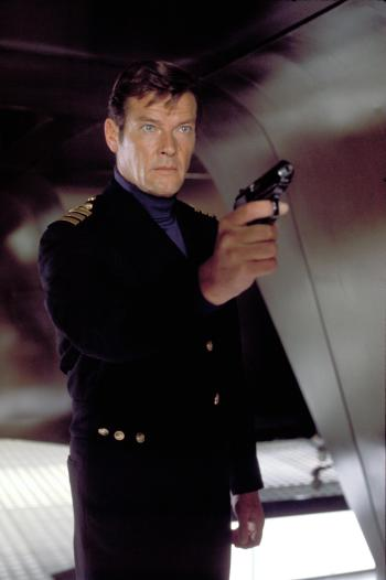 Roger Moore as Commander James Bond in The Spy Who Loved Me (1977)