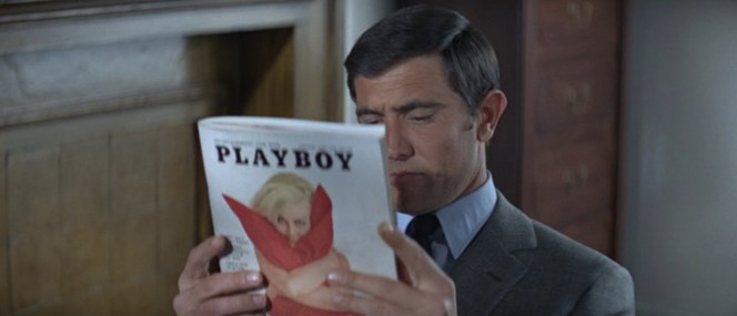 Just as they don't seduce female patients in clinics, respectable baronets from the College of Heralds do not read Playboy magazine, 007!