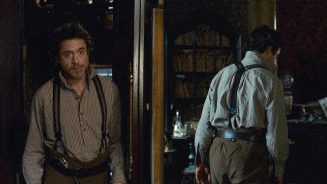 "Note the short horizontal strip across the shirt's abdomen (at left), which cuts off the ""French placket"" and indicates that it is, indeed, a pullover shirt rather than a traditional button-up."