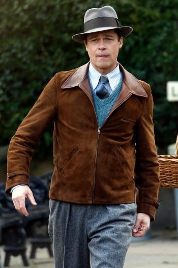 Brad Pitt as Wing Commander Max Vatan in Allied (2016)