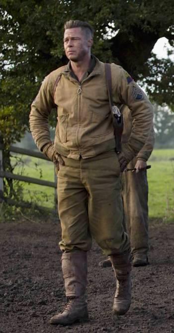 "Brad Pitt as Don ""Wardaddy"" Collier in Fury (2014)"