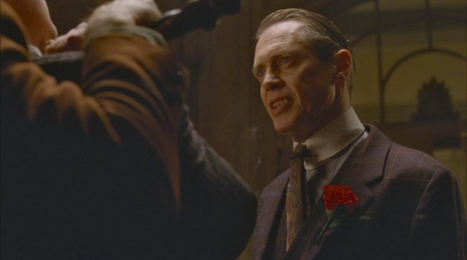 """Family Limitation"" (Episode 1.06): Nucky makes it clear that Lucky Luciano isn't welcome to enjoy any of Atlantic City's dazzling attractions."