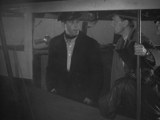 High-ranking member of the French Resistance or not, on Harry's boat, Harry's the captain so sit down, shut up, and listen, M. de Bursac (Walter Surovy).