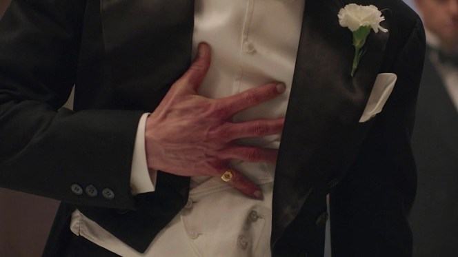 A confrontation in the first episode leaves Monroe clutching his midsection.