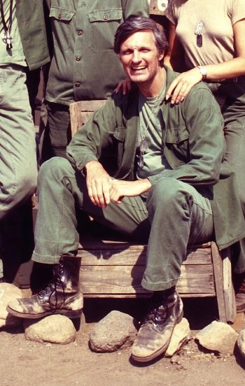 "Alan Alda as Captain ""Hawkeye"" Pierce on M*A*S*H"