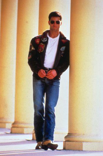 "Tom Cruise as LT Pete ""Maverick"" Mitchell in Top Gun (1986)"