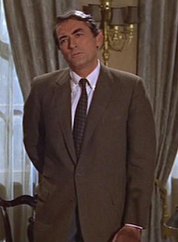 Gregory Peck as Professor David Pollock in Arabesque (1966)