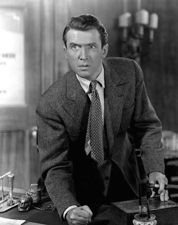 James Stewart as George Bailey in It's a Wonderful Life (1946)