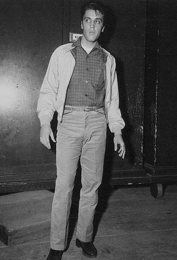 Elvis Presley on the set of King Creole (1958)
