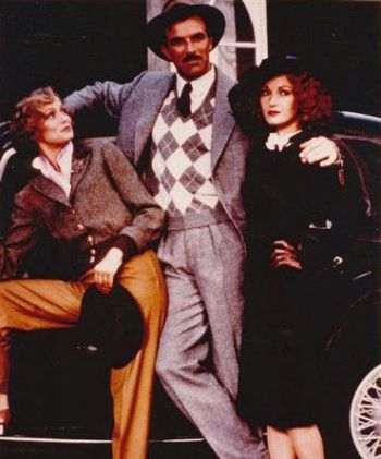 Tom Selleck with his co-stars Lauren Hutton and Jane Seymour in Lassiter (1984)