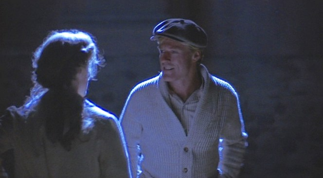 Roy, age 19, spends one final night with Iris (Glenn Close) before heading off to try out for the Cubs.