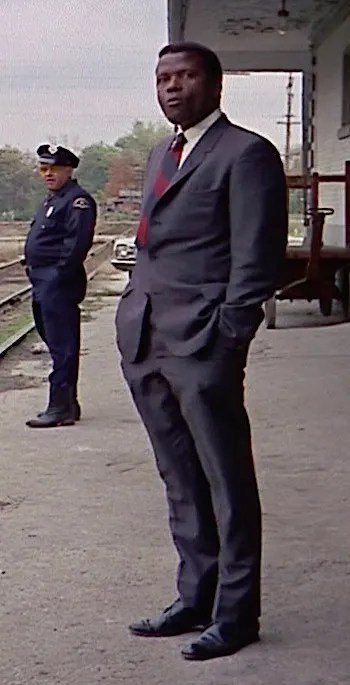 Sidney Poitier as Virgil Tibbs in In the Heat of the Night (1967)