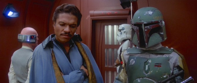 Two of the coolest and most popular characters in the Star Wars universe—Lando Calrissian and Boba Fett—were both introduced in The Empire Strikes Back while in service to Darth Vader, though Lando's disingenuous corruption would be short-lasted.