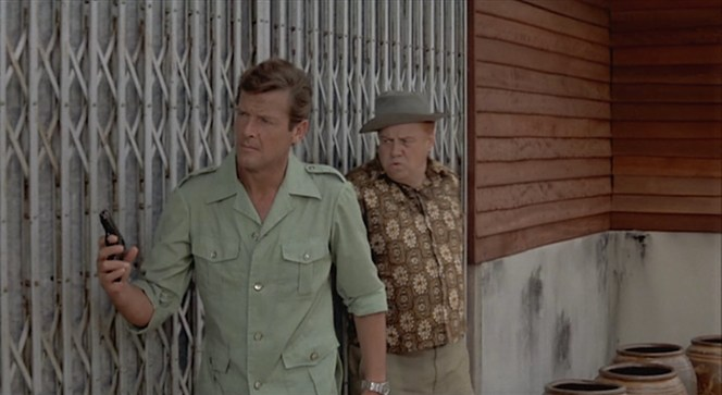 Armed with his trusty Walther PPK and his less trusty companion Sheriff J.W. Pepper, Bond prepares to confront Scaramanga.