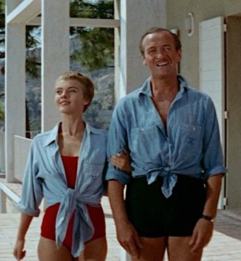 David Niven and Jean Seberg as Raymond and Cécile in Bonjour Tristesse (1958)