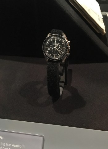 "I took this photo of Michael Collins' Omega Speedmaster worn during Apollo 11 at the Smithsonian's traveling exhibit ""Destination Moon"" that was at the Heinz History Center in Pittsburgh from September 2018 through February 2019."