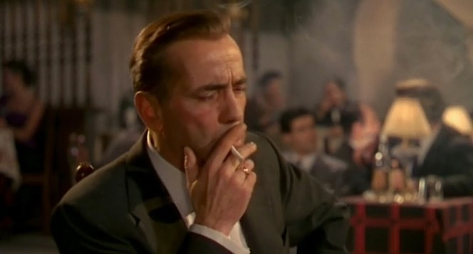 No one could smoke a cigarette on screen like Bogie.