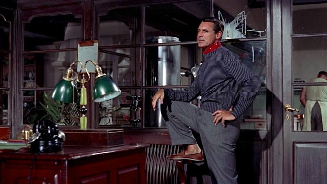 Robie takes a stance in Bertani's office, simultaneously revealing that he lost his socks somewhere on the way to Cannes.