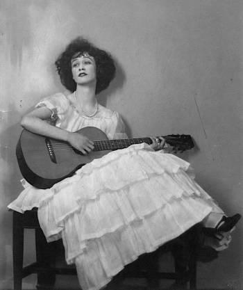 Jazz Age singer, guitarist, and bandleader Lee Morse during her 1920s heyday.
