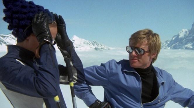 Dave regards his stylish ski partner.